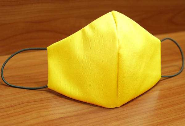 Behelfs-Mund-Nasen-Maske, gelb