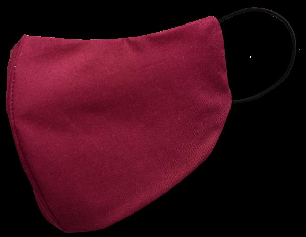 Behelfs-Mund-Nasen-Maske, weinrot