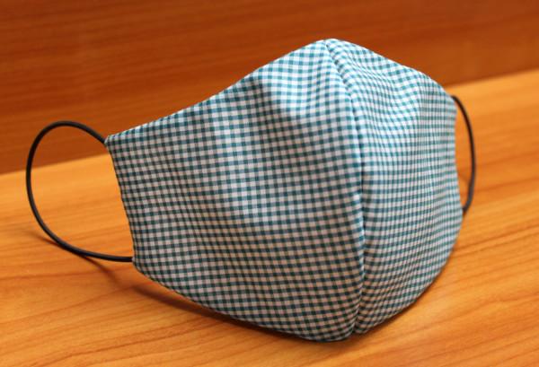 Behelfs-Mund-Nasen-Maske, Vichykaro grün